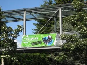 Banner am Rathaus