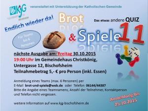 Plakat Brot und Spiele 11